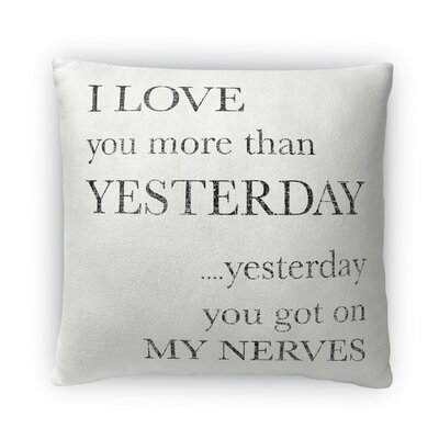 Yesterday Fleece Throw Pillow Size: 16 H x 16 W x 4 D