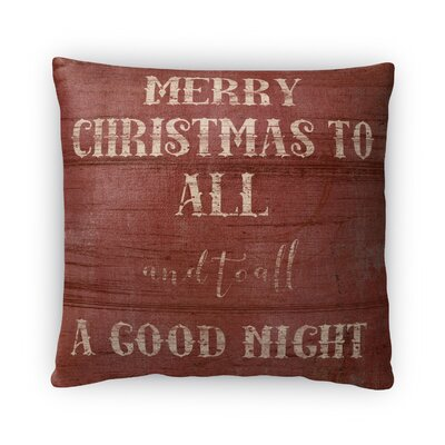 All a Goodnight Fleece Throw Pillow