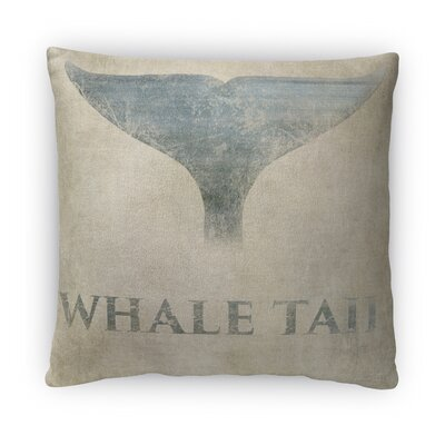 Whale Tail Fleece Throw Pillow Size: 16 H x 16 W x 4 D