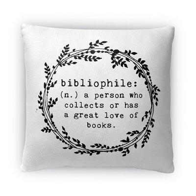 Bibliophile Fleece Throw Pillow Size: 18 H X 18 W X 4 D
