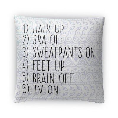 Chillen Fleece Throw Pillow Size: 18 H X 18 W X 4 D