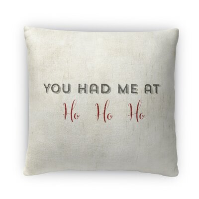 Ho Ho Ho Fleece Throw Pillow