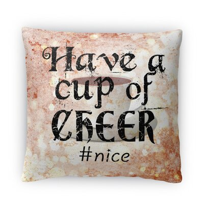 Have a Cup Fleece Throw Pillow