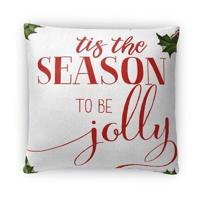 Be Jolly Fleece Throw Pillow