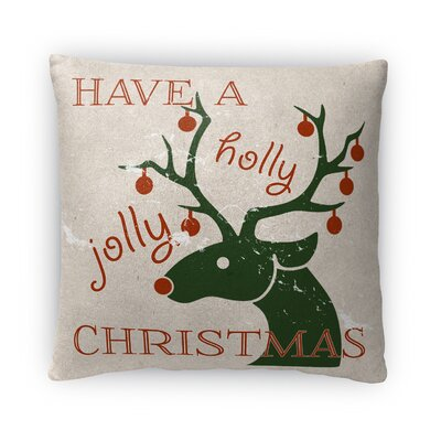 Jolly Christmas Fleece Throw Pillow