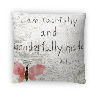 Wonderfully Made Fleece Throw Pillow Size: 16 H x 16 W x 4 D