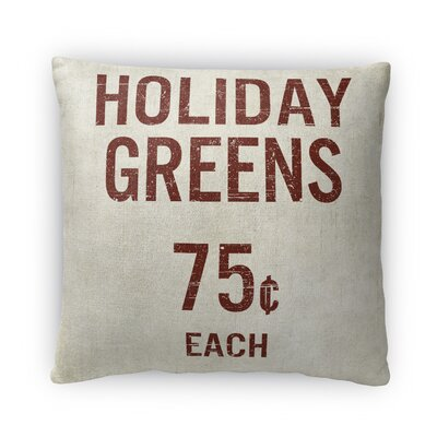 Holiday Greens Fleece Throw Pillow