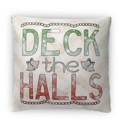 Deck the Halls Fleece Throw Pillow