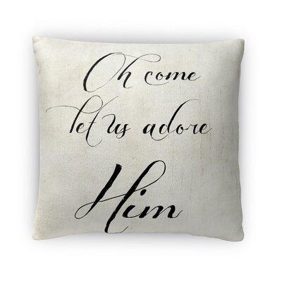Adore Him Fleece Throw Pillow
