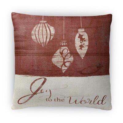 Joy to the World Fleece Throw Pillow