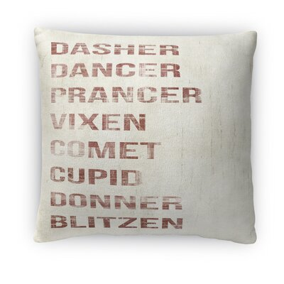 Name Deer Fleece Throw Pillow