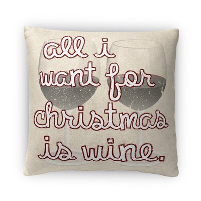Wine Fleece Throw Pillow