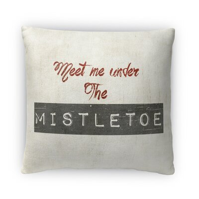 Under The Mistletoe Fleece Throw Pillow