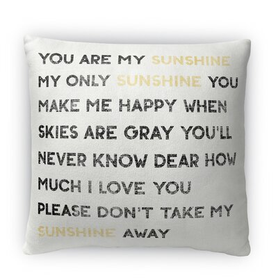 Sunshine Fleece Throw Pillow Size: 16 H x 16 W x 4 D