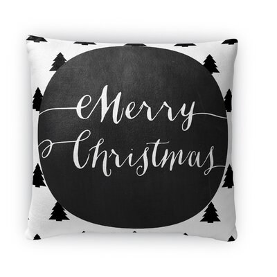 Merry Christmas Fleece Throw Pillow