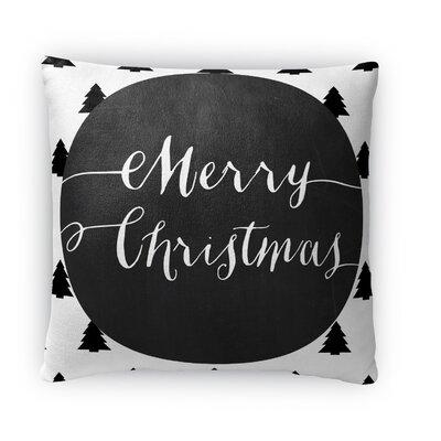 Merry Christmas Fleece Throw Pillow
