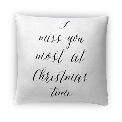 Miss You Fleece Throw Pillow