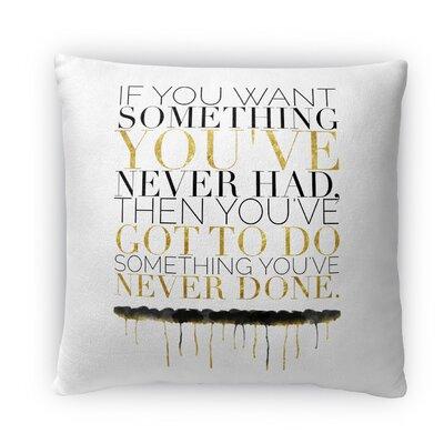 Never Done Fleece Throw Pillow Size: 16 H x 16 W x 4 D