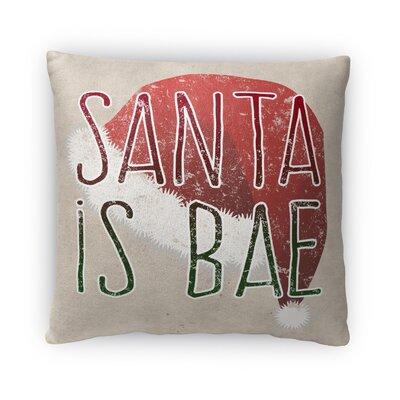 Santa is Bae Fleece Throw Pillow