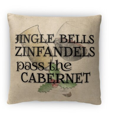 Pass The Cabernet Fleece Throw Pillow