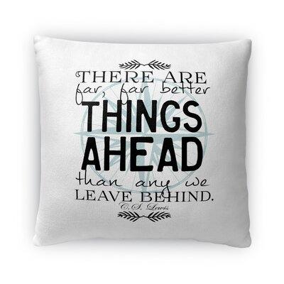 Things Ahead Fleece Throw Pillow Size: 18 H x 18 W x 4 D