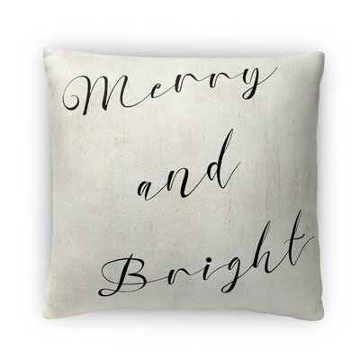 Merry And Bright Ill Fleece Throw Pillow