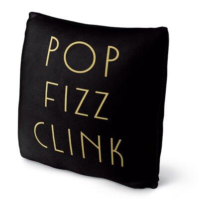 Pop Fizz Clink Fleece Throw Pillow