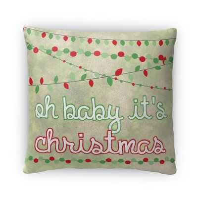 Oh Baby Its Christmas Fleece Throw Pillow