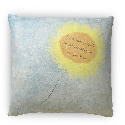 Sun Flower Fleece Throw Pillow Size: 16 H x 16 W x 4 D