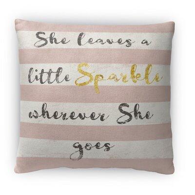 Sparkle Fleece Throw Pillow Size: 18 H x 18 W x 4 D