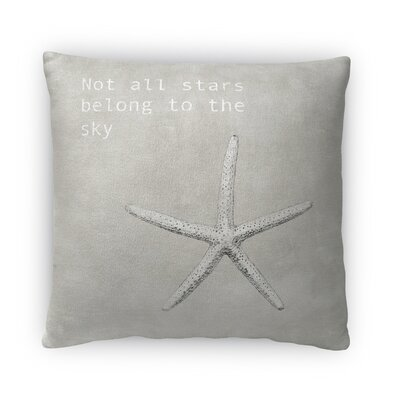 Not All Stars Fleece Throw Pillow Size: 18 H x 18 W x 4 D