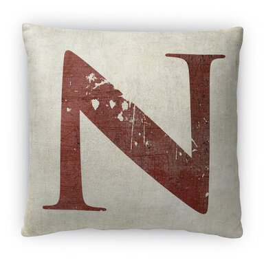 N Fleece Throw Pillow