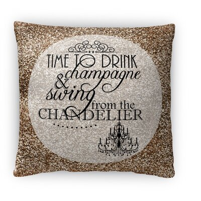 Time to Drink Fleece Throw Pillow Size: 18 H x 18 W x 4 D