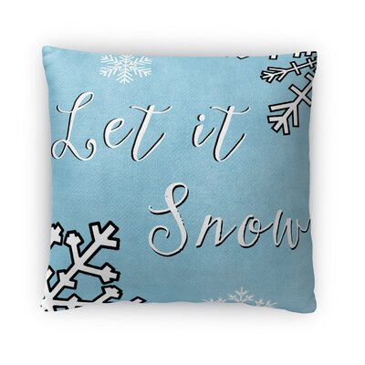 Let It Snow Fleece Throw Pillow