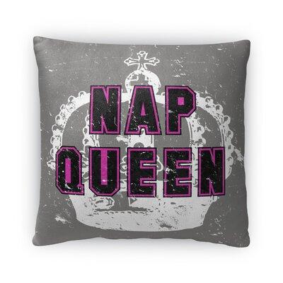 Nap Queen Fleece Throw Pillow Size: 18 H x 18 W x 4 D
