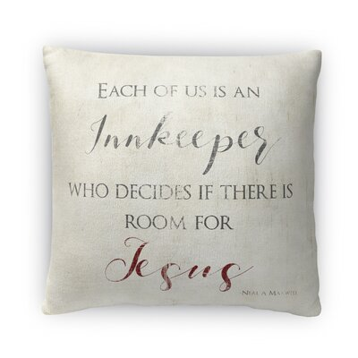 Room for Jesus Fleece Throw Pillow
