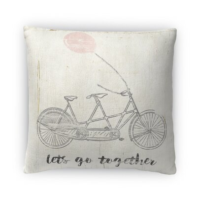 Lets Go Together Fleece Throw Pillow Size: 18 H x 18 W x 4 D