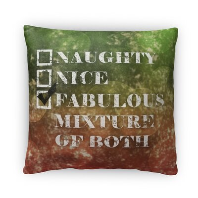 Naughty or Nice Fleece Throw Pillow