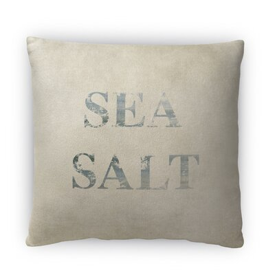 Sea Salt Fleece Throw Pillow Size: 16 H x 16 W x 4 D
