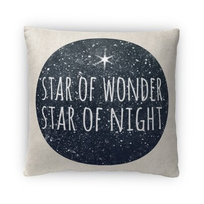 Star of Night Fleece Throw Pillow