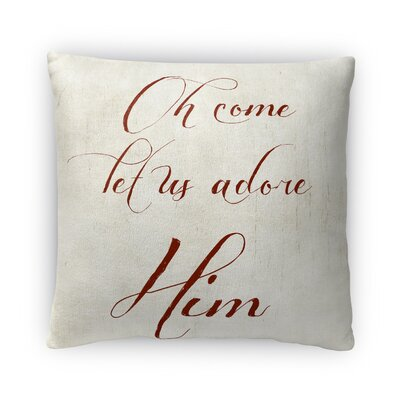Oh Come Let Us Adore Him Il Fleece Throw Pillow