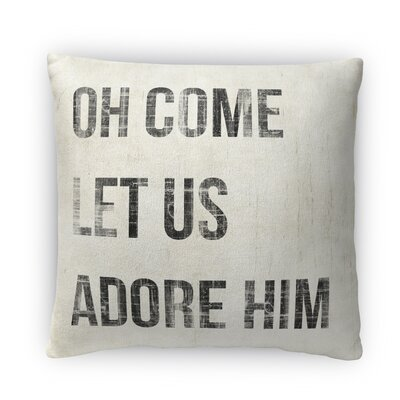 Oh Come Let Us Adore Him Fleece Throw Pillow