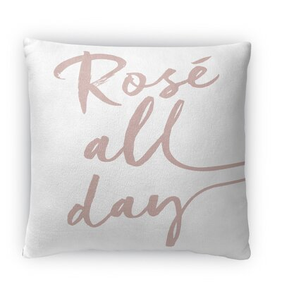 Rose All Day Fleece Throw Pillow Size: 16 H x 16 W x 4 D