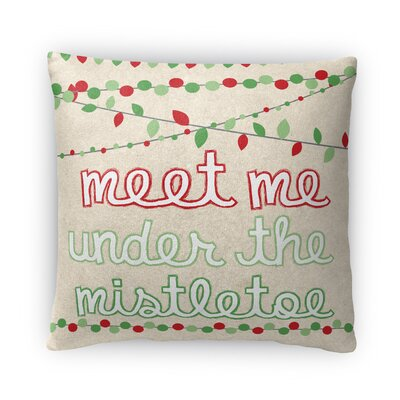 Mistletoe Fleece Throw Pillow