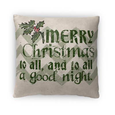 Merry Goodnight Fleece Throw Pillow