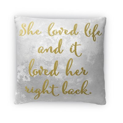 Love Life Fleece Throw Pillow Size: 16 H x 16 W x 4 D
