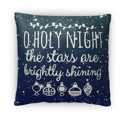 O Holy Night Fleece Throw Pillow