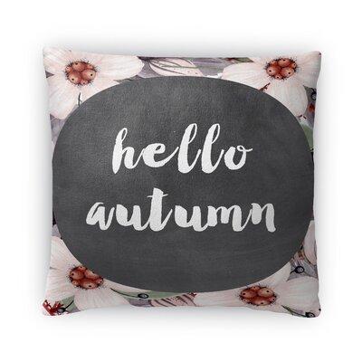 Hello Autumn Fleece Throw Pillow Size: 16 H X 16 W X 4 D