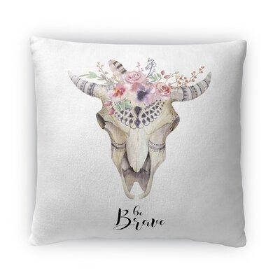 He Brave Fleece Throw Pillow Size: 16 H X 16 W X 4 D