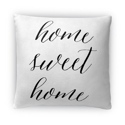 Home Sweet Home Fleece Throw Pillow Size: 18 H X 18 W X 4 D